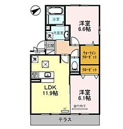 Casa raffine 瀬田A[305号室号室]の間取り