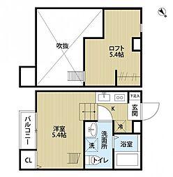 reo's稲毛01[2階]の間取り