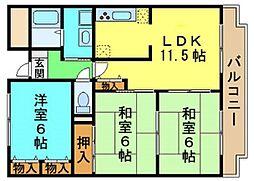 キッツ スクエア[2階]の間取り