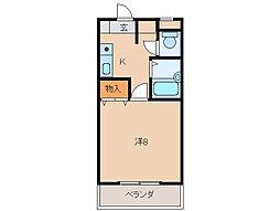 メゾン貴志[1階]の間取り
