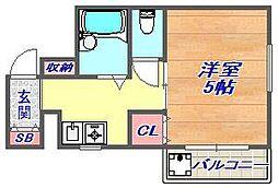 ブリード神戸壱番館[1階]の間取り