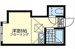 神奈川県横浜市鶴見区鶴見中央5丁目の賃貸アパートの間取り