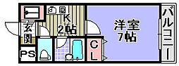 アーバンフジ[208号室]の間取り