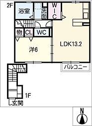 セジュールSG[2階]の間取り