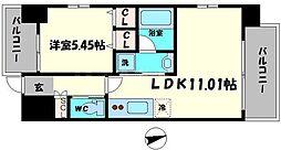 Osaka Metro長堀鶴見緑地線 蒲生四丁目駅 徒歩3分の賃貸マンション 8階1LDKの間取り