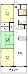 メゾンドゥールII[1階]の間取り