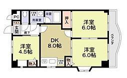 サンモール1番館A棟[2階]の間取り