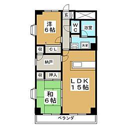 セントレアカマII[3階]の間取り