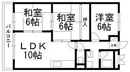 バーンフリート寝屋川[0306号室]の間取り