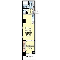 椿荘[6階]の間取り