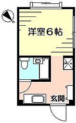 インターフェイス壱番館[3階]の間取り