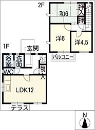 [タウンハウス] 岐阜県各務原市那加石山町1丁目 の賃貸【/】の間取り
