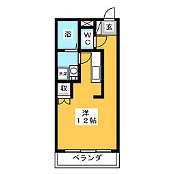 レジデンス輝樹[2階]の間取り