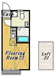 フローラ2[1階]の間取り