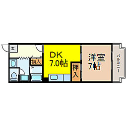 愛知県名古屋市中区新栄1の賃貸マンションの間取り