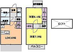 [テラスハウス] 愛知県長久手市片平2丁目 の賃貸【/】の間取り