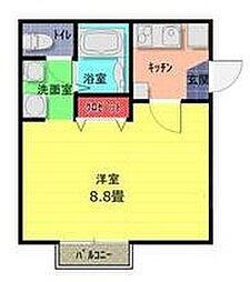 東武野田線 七里駅 徒歩9分の賃貸アパート 2階1Kの間取り