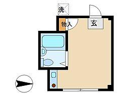 東京都大田区蒲田1丁目の賃貸マンションの間取り