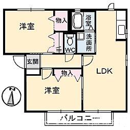 シャーメゾン石井A棟[1階]の間取り
