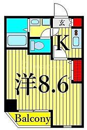 つくばエクスプレス 浅草駅 徒歩10分の賃貸マンション 4階1Kの間取り