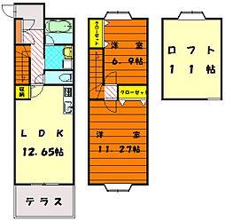 夏井荘[2階]の間取り