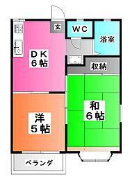 東京都北区滝野川2の賃貸アパートの間取り