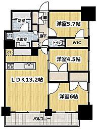 東京メトロ丸ノ内線 新宿御苑前駅 徒歩5分の賃貸マンション 9階3LDKの間取り