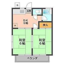 東京都江戸川区東小岩4丁目の賃貸アパートの間取り