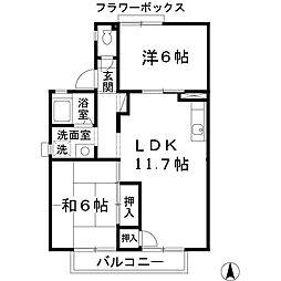 セジュール深井 I[203号室]の間取り