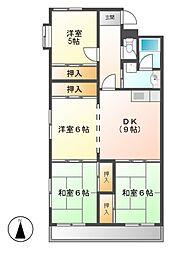 マンション長谷川[6階]の間取り