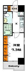 リーガル南船場[9階]の間取り