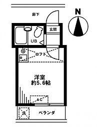 レオパレス上板橋[2階]の間取り