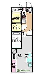 コスモMI[207号室]の間取り