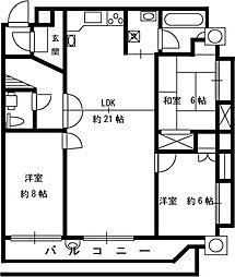 新戸山ビル[7階]の間取り
