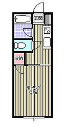 穴川ハイリビング壱番館[105号室]の間取り