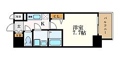 名古屋市営桜通線 高岳駅 徒歩1分の賃貸マンション 15階1Kの間取り