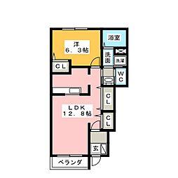 パルテ・カナ−レ I・II・III[1階]の間取り