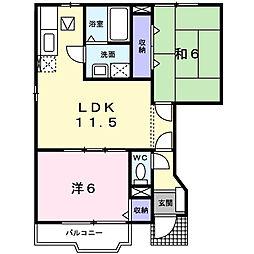セレスB[1階]の間取り