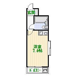 ダイアパレス亀有第2[2階]の間取り