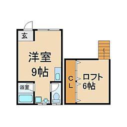 大阪府交野市星田7丁目の賃貸アパートの間取り