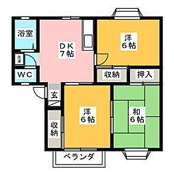 プラントコート A棟[1階]の間取り
