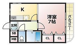 KSハイム[4階]の間取り