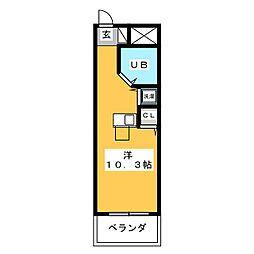 ライオンズマンション柳ヶ瀬[3階]の間取り