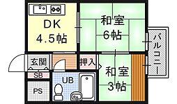 ニューヴィラ京都[205号室号室]の間取り