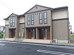 愛知県岡崎市大平町字榎田の賃貸アパートの外観