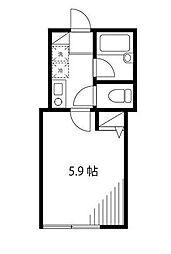 神奈川県川崎市多摩区西生田5の賃貸アパートの間取り