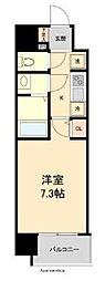 HF仙台本町レジデンス 6階1Kの間取り