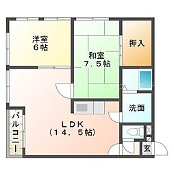 菅原マンション[3階]の間取り