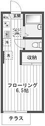 シングルT[2階]の間取り