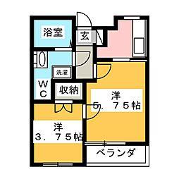 Boasorte[2階]の間取り